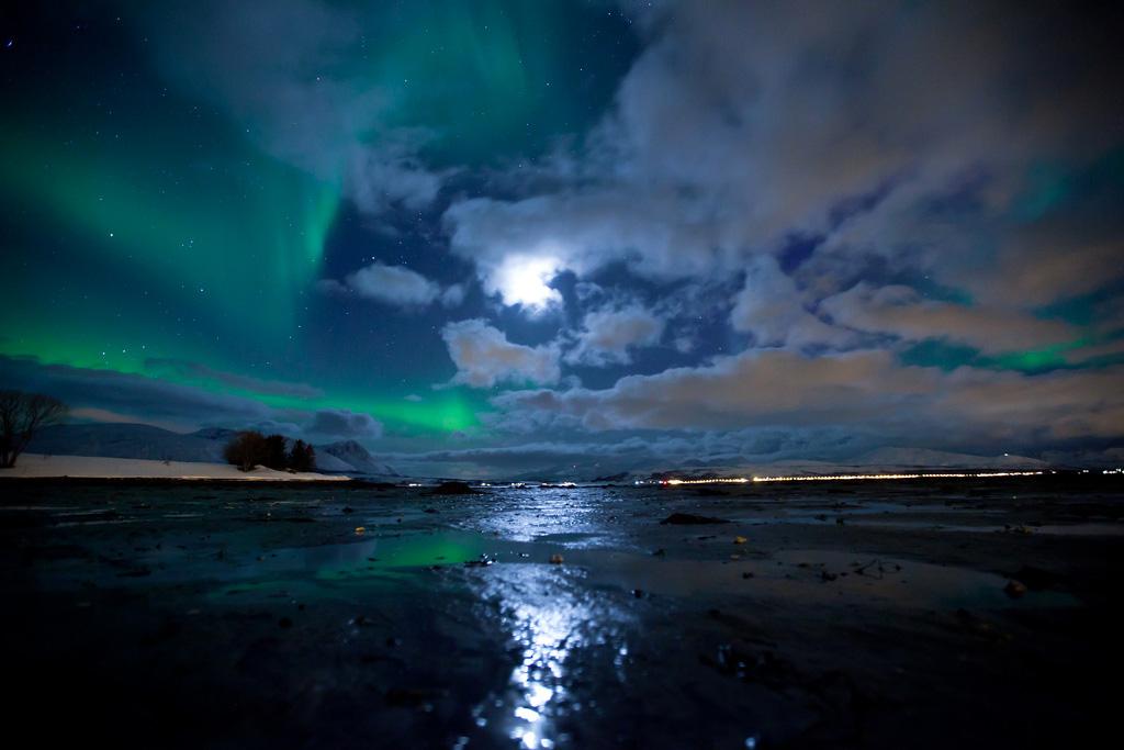 Aurora Borealis a Tromsø Norvegia