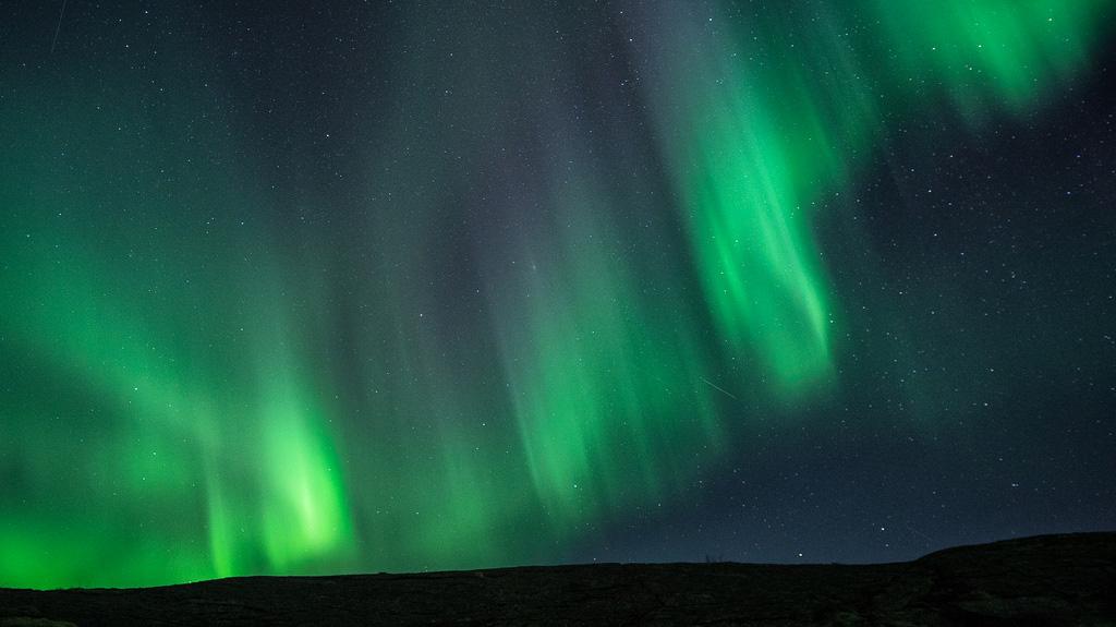Aurora Borealis a Valvika, Nordland, Norvegia