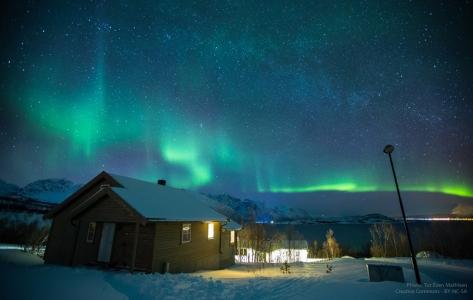 Aurora Borealis sopra Lyngen, Norvegia