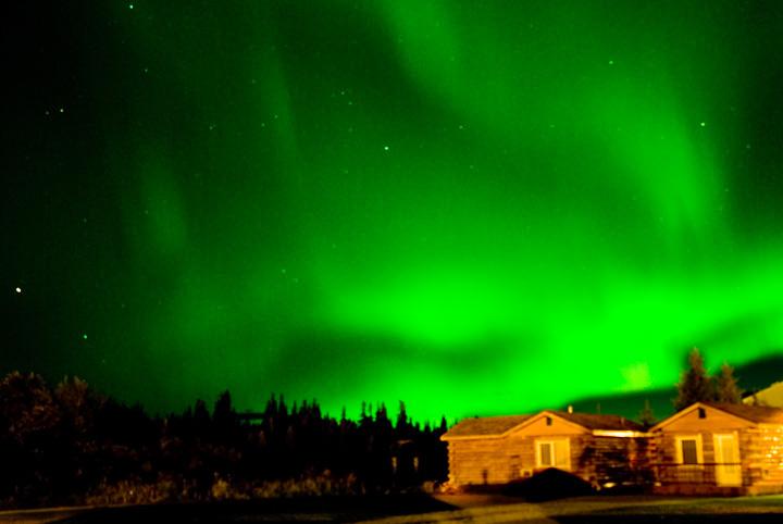 Luci notturne verdi (Northern Lights) dell'Aurora Boreale