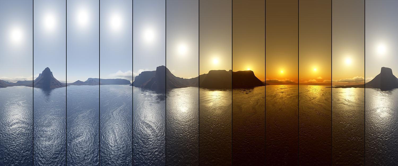 sole di mezzanotte fasi del sole